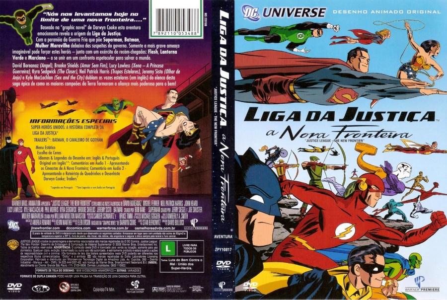 Capa do DVD Liga da Justiça: A Nova Fronteira