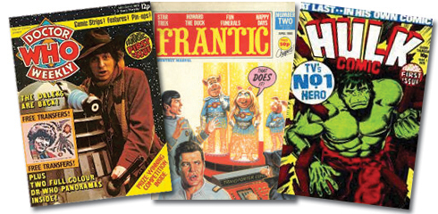 Doctor Who Magazine, Frantic e Hulk Weekly