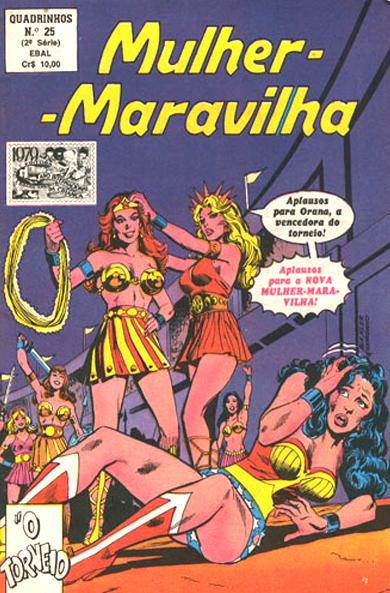 Mulher-Maravilha - Quadrinhos em Formatinho (2ª Série) #25, da EBAL