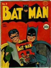 Batman e Robin Lêem Batman (Batman #8 - 1941)