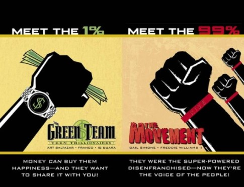 The Green Team (Art Baltazar e Franco e Ig Guara) e The Movement (Gail Simone e Freddie Williams III)
