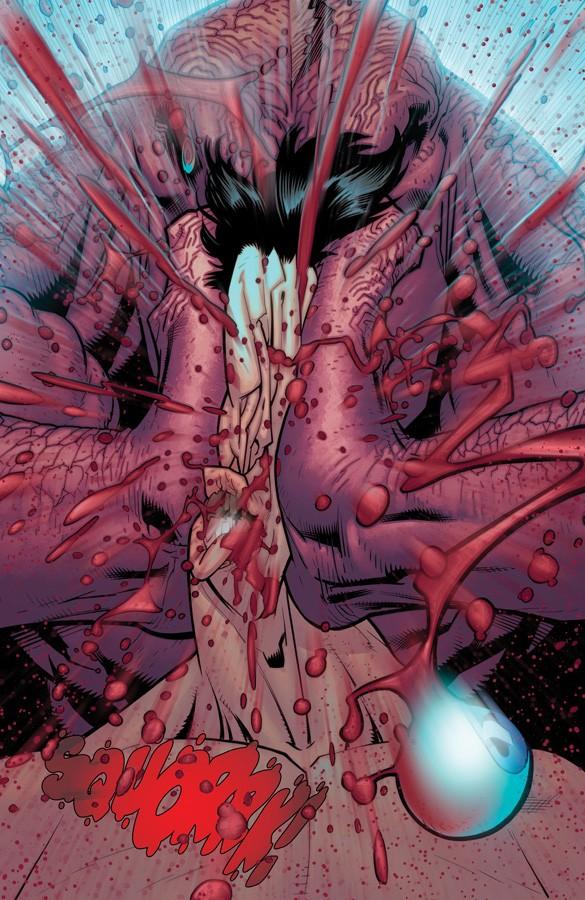 Não é The Walking Dead, é Invencível! A morte de Invencível (Invincible#100 - 2013), desenhos de Ryan Ottley.