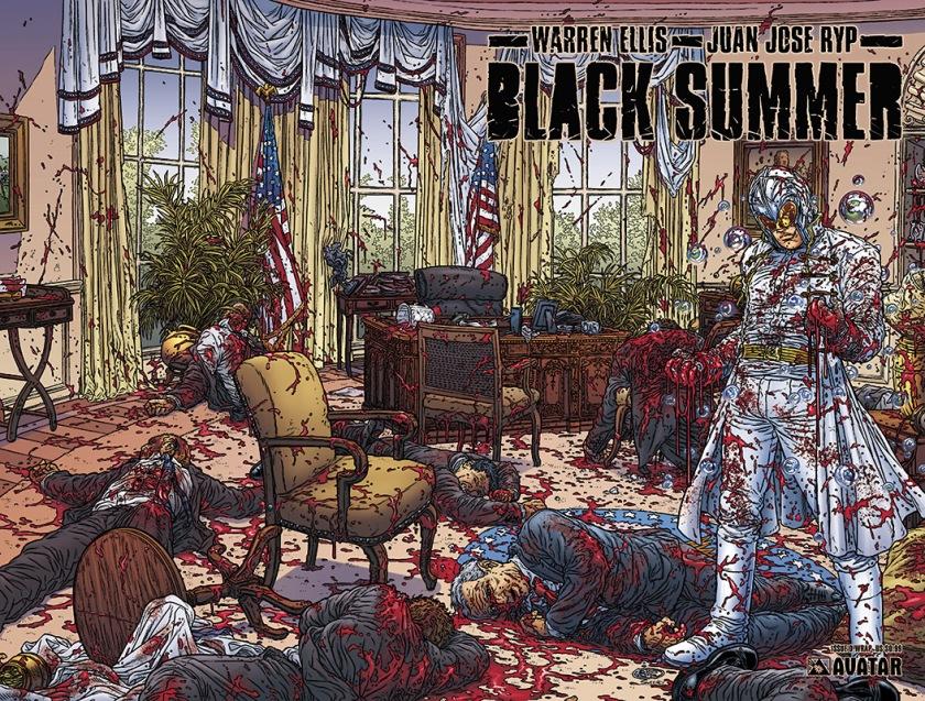Capa de Black Summer (2007), desenhos de Juan Jose Ryp.