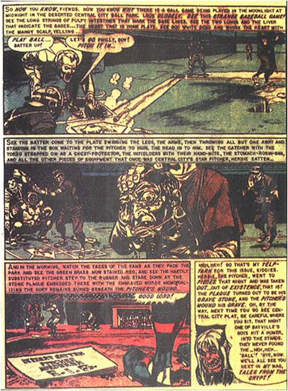 """O final da história Foul Play, que foi o estopim da """"caça às bruxasdos quadrinhos"""" do senado americano nos anos 1950."""
