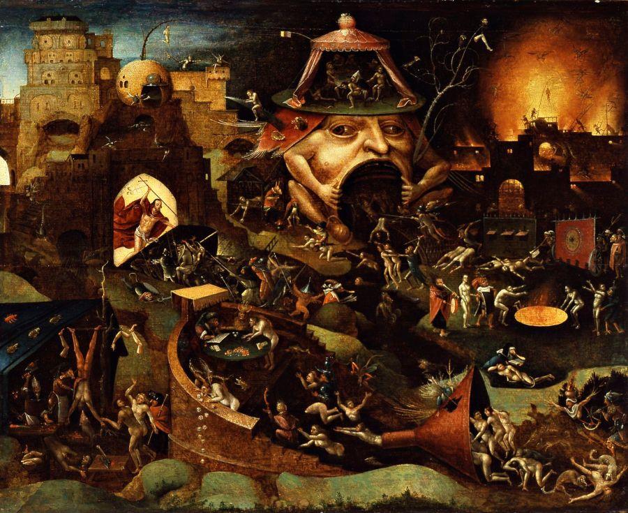 O Inferno, segundo Hieronymous Bosch.