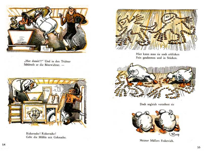 Última página de Max and Moriz, de Willem Busch (1985), o grotesco é uma marca registrada dos quadrinhos desde seus pioneiros.