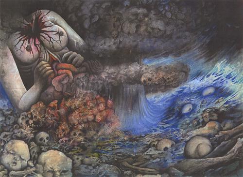 Detalhe de uma das capas de Panoram do Inferno, de Hideshi Hino (1983).