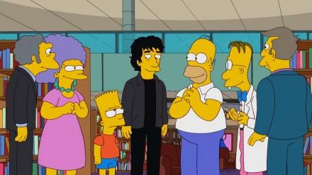 Neil Gaiman em um episódio de Os Simpsons