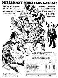 Alguns dos personagens do universo de Horror da Marvel.