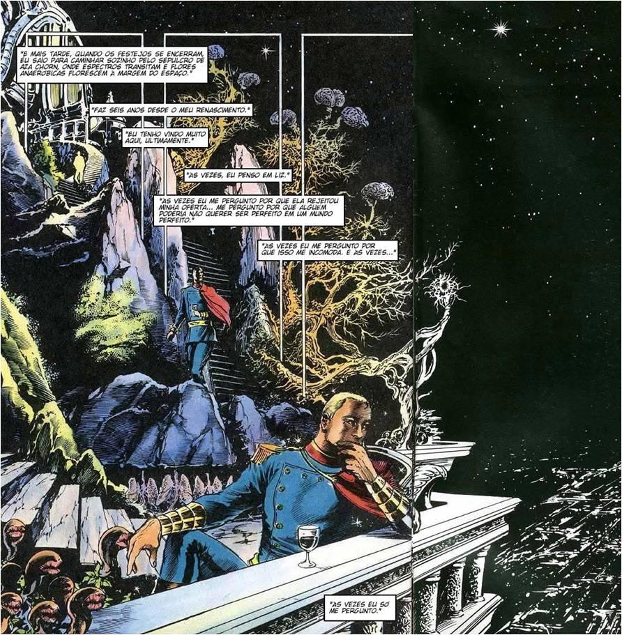 Miracleman Refletindo sobre sua Utopia Autoimposta