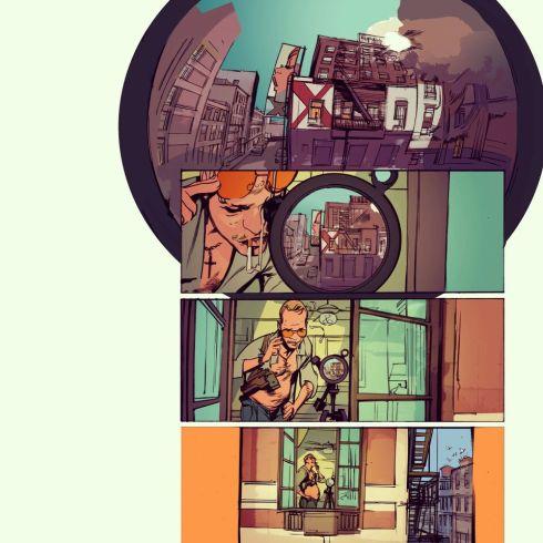Abertura da HQ Sequence Shot, que já incicia com o