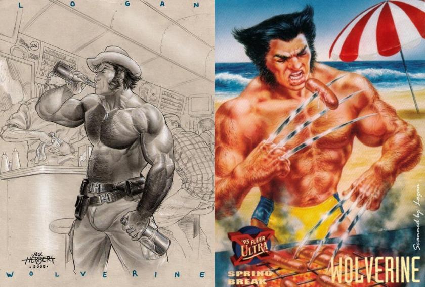 Esse Wolverine é o macho que eu queria ter... ops, ser!
