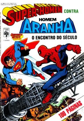 Super-Homem Contra Homem-Aranha, o primeiro encontro entre super-heróis Marvel e DC.