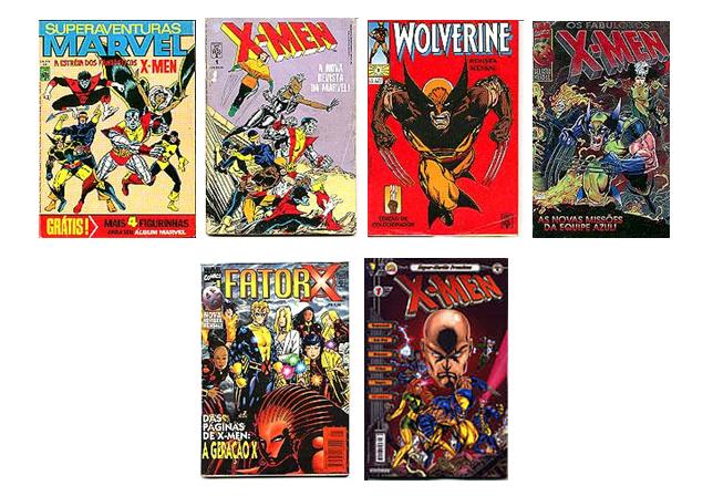 As revistas dos X-Men lançadas pela Editora Abril entre 1984 e 2001.