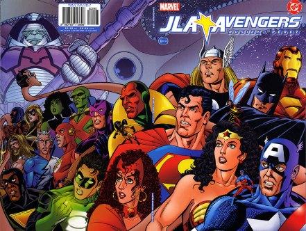 Capa de JLA/Avengers#1. O definitivo!