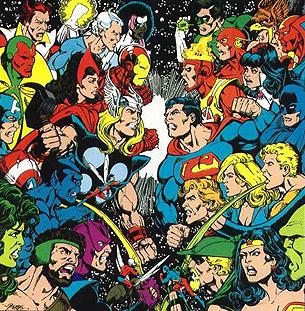 O Crossover Original entre Liga da Justiça e Vingadores.