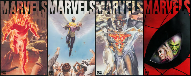 As capa de Marvels - por Alex Ross