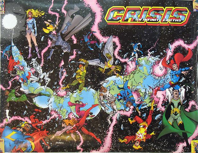 A Crise nas Infinitas Terras, de Marv Wolfman e Kurt Busiek, para comememorar e unificar os 50 Anos da DC Comics.