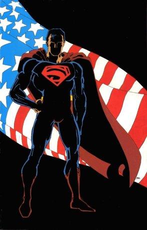 O Superman de Frank Miller (contracapa de Action Comics #400, de 1984)
