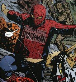 Peter Parker, o Homem-Aranha fora de forma da Terra X.