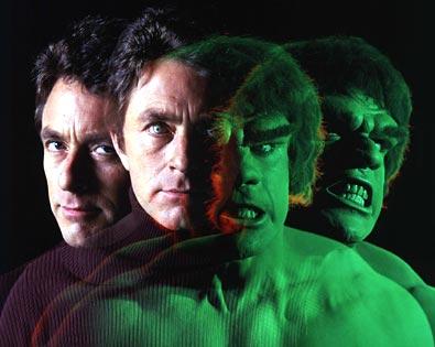 Bill Bixby e Lou Ferrigno como Bruce Banner/Hulk