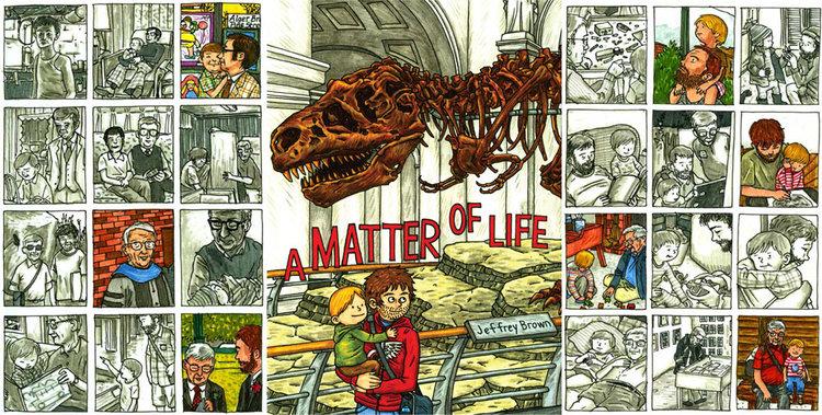 Capa e Contracapas de A Matter of Life, de Jeffrey Brown (Top Shelf, 2013)