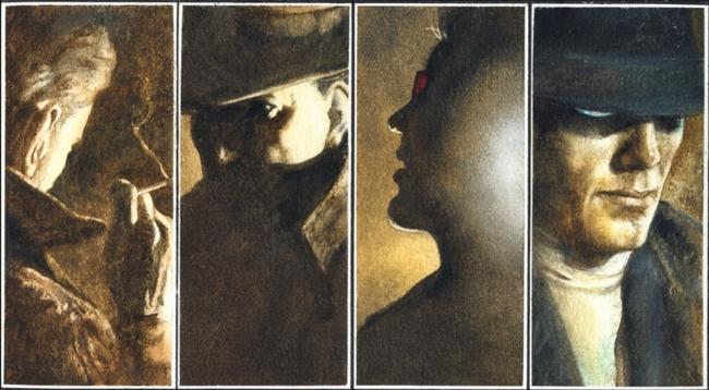 Os quatro tutores de Tim Hunter no mundo da magia: Constantine, Dr. Oculto, Mister Io e o Vingador Fantasma.