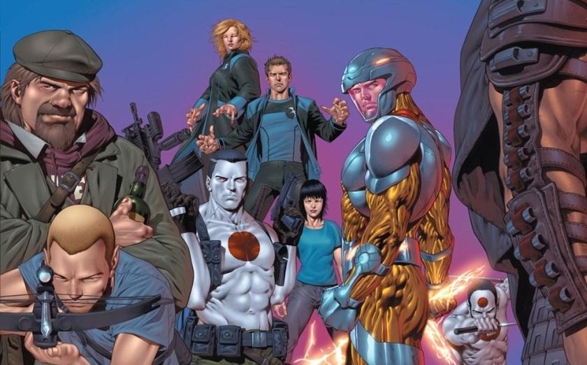 Alguns personagem da editora Valiant