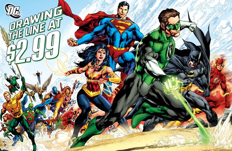 Nem a Liga da Justiça pode te salvar da inflação! ( a não ser que nós cortemos 4 páginas da sua revista favorita!)