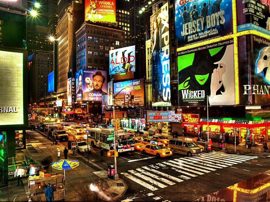 Times Square! Tempos Quadrados para quem não tem anunciante!