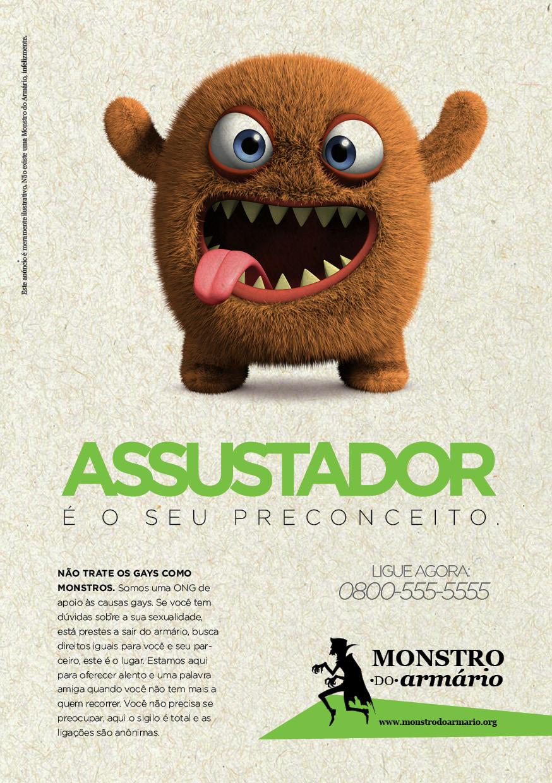Anúncio Fake divulgando a ONG Monstro do Armário, na Revista Fratura Exposta #002