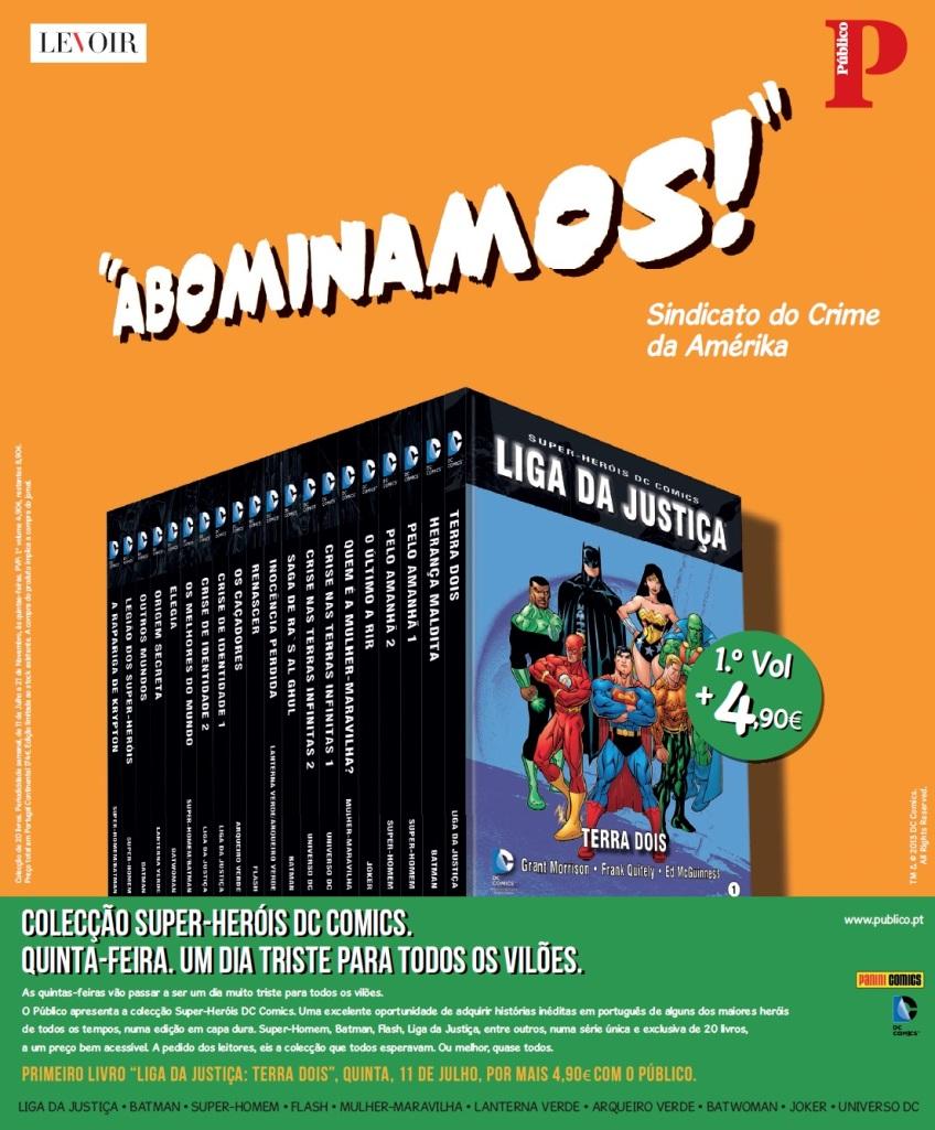 Coleção dos Super-Heróis DC lançada pelo jornal Público, de Portugal.