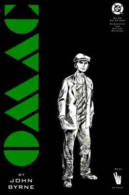 As capas da minissérie, assim como seu miolo, erma em preto e branco, menos o título da capa, numa cor chapada. Este é Buddy Blank em 1917.