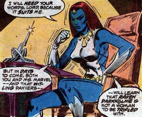 Essa Mística toda nos envolve desde Ms. Marvel#17, na fase em que Claremont assumiu a revista.