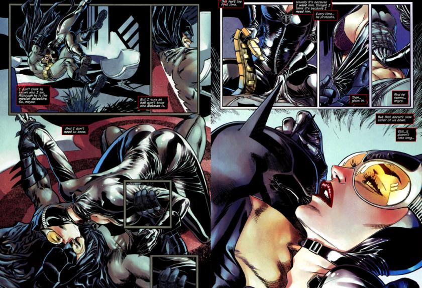 """""""Foi bom para você?"""" Para o Batman não sei, mas para os fãs heteros da Mulher-Gato, foi sim. Fumaram até um cigarrinho depois de ler esta revista."""