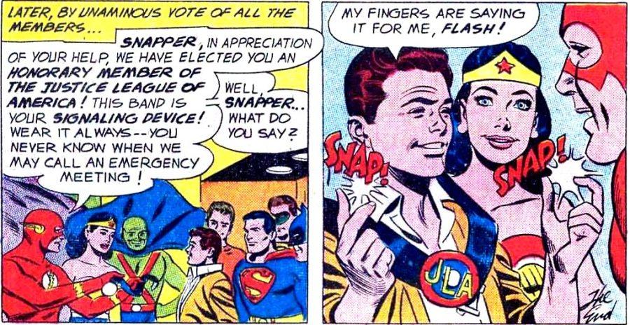 """Snapper Carr, o """"normal de estimação"""" da Liga da Justiça."""