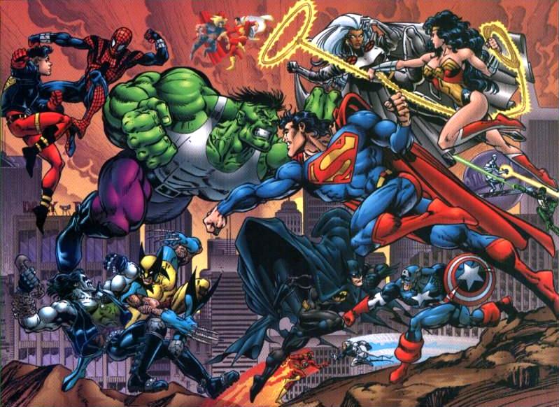 O crossover entre a Marvel e a DC nos anos 90, mexeu com a cabeça e bolsos dos fãs de super-heróis.