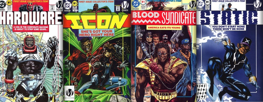 Algumas capas números um das revistas da Milestone Media!