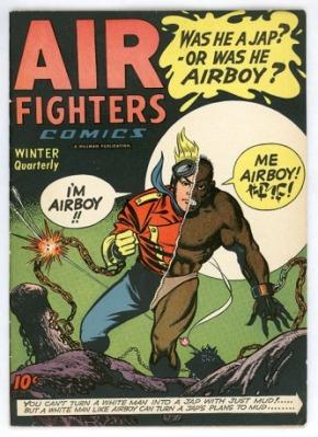 Veja como a representação da versão japonesa de Airboy lembra um macaco!