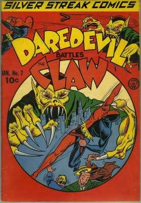 A primeira aparição do Daredevil da Era de Ouro