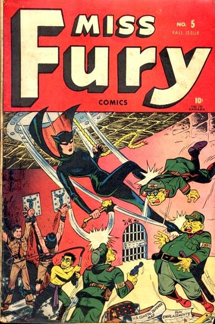 Miss Fury slap a jap!