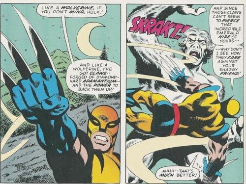 Wolverine luta com garra! Luta com unhas e dentes!