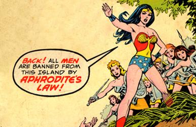 Pela lei de Afrodite os homens foram banidos dos gibis das personagens femininas! Xô, falos!