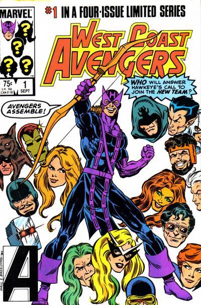 O primeiro número de Vingadores da Costa Oeste!