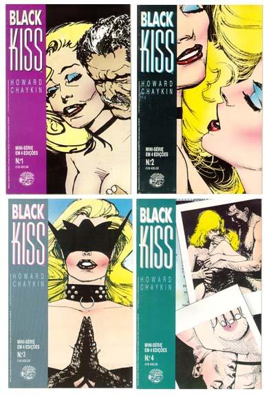 O polêmico Beijo Negro de Howard Chaykin.