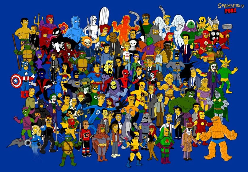 Muito mais que só Marvel e DC, temos os Simpsons tb! #sqn