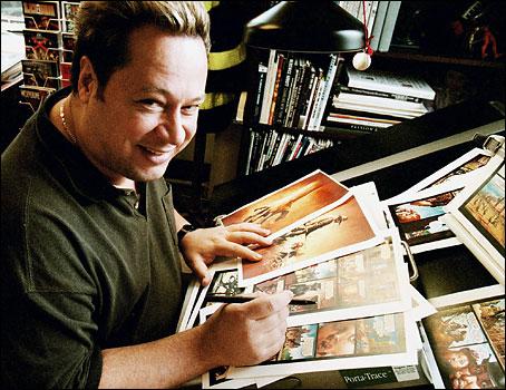 """Joe Quesada, um dos responsáveis pela """"levanta, sacode a poeira e dá a volta por cima"""" da Marvel."""