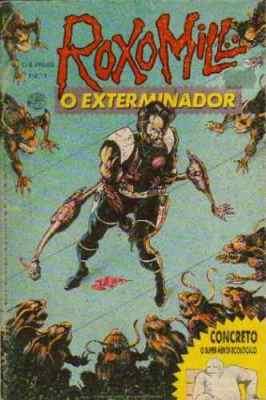 A revista do Roxomill, o Exterminador trazia também as HQs do Concreto!