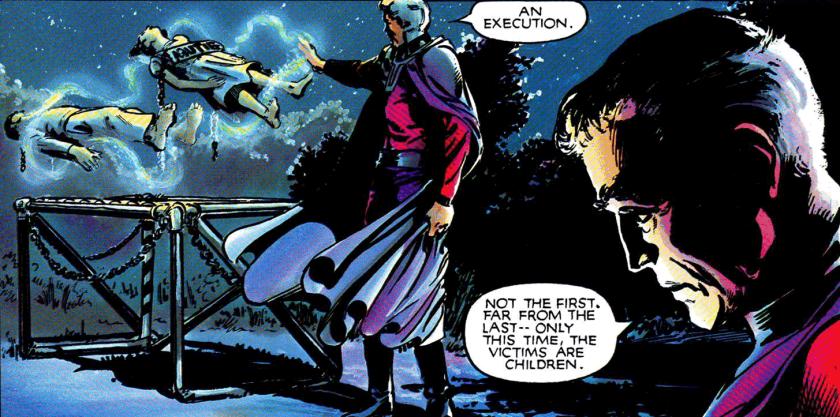 Agora são crianças! Aonde esse mundo vai parar? Já refletia Magneto, um terrorista, sobre condenar crianças