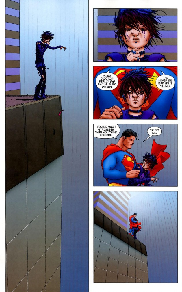 A cena que é A cena de All-Star Superman